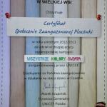 Certyfikat Społecznie Zaangażowanej Placówki