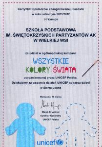 Certyfikat - Wszystkie Kolory Świata