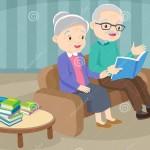 dziadek-z-babcią-czyta-książkę-na-kanapie-czytającą-razem-happy-starszy-patrzy-żonę-która-w-jasnym-pokoju-162186322